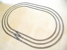 LARGE JOB LOT OF HORNBY OO HO NICKEL SILVER TRACK , TO CREATE 3 LARGE OVALS