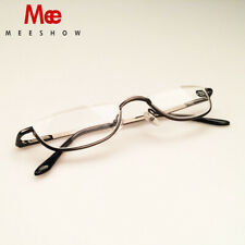 Personality stainless steel high quality half frame portable reading glasses