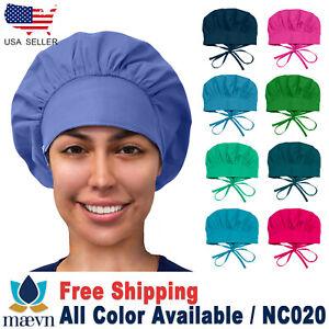 Maevn Women's Bouffant  Doctor Nurse Scrub Cap Long Hair Ladies Hat NC020