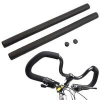 2pcs Black MTB Bike Bicycle Handlebar Grip Smooth Sponge Foam Tube Cover 9I