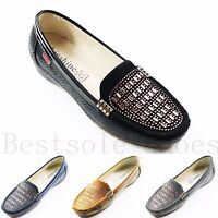 LADIES WOMENS DIAMANTE SLIP ON WEDGE LOAFERS TRAINERS PUMPS FLATS SHOES SIZE