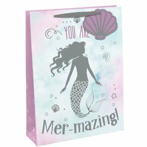 Mermazing Mermaid Foil Finish Medium Gift Bag - 25.3cm