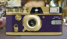 10 x Retro Purple Disposable Wedding Cameras 27exp, flash & matching table cards