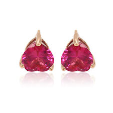 """SALE 9ct 9K ROSE """" Gold Filled """"  7mm Earrings made with Swarovski Crystal 543RG"""