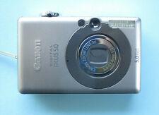 Como nuevo! canon ixus 50 + accesorios paquete + tarjeta SD - 512mb funda de cuero auténtico 2. batería #27