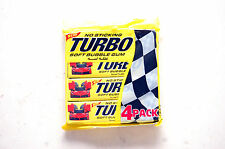 TURBO 2015 NEW SEALED 4 PACKS WITH 5 GUMS EACH - 20 GUMS GUM WRAPPERS CARS