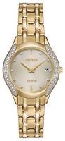 Citizen Eco-Drive Women's Diamond Accent Gold-Tone 27mm Watch GA1062-51P