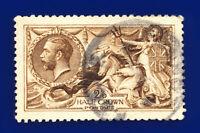 1915 SG407 2s6d Dark Brown De La Rue N64(4) London Fair Used Cat £300 dcid