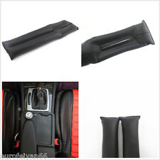 Black Artificial Leather Autos Seats Side Seam Gap Filler Stop Holster Leakproof