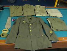 WWII U.S. ARMY DRESS JACKET SHIRTS PANTS 37R TECH 5 GROUPING - 10 PCS.