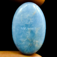 Cts. 25.45 Natural Blue Angelite Cabochon Oval Cab Loose Exclusive Gemstone