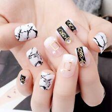 Press On Nails Polished Women's Fake Nail Tips Glue Full Cover Fingernail 24pcs
