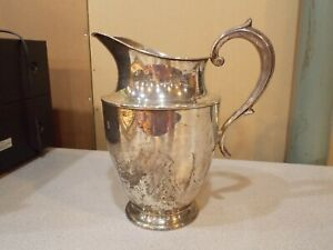 """Antique Reed & Barton Model H770 Sterling Silver Water Pitcher 9-3/8"""" 554 Grams"""