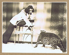 Bringing Up Baby '38 Katharine Hepburn Leopard Howard Hawks D/W Original Photo