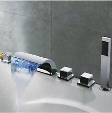 LED Salle de bains baignoire cascade robinet mitigeur+douche à main set