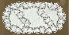 """Fancy Ovale Bianco, Pizzo Tavolo Corridore 60cm x 120cm (24""""x47"""") regalo elegante"""