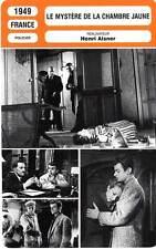 FICHE CINEMA : LE MYSTERE DE LA CHAMBRE JAUNE - Barbulée,Corne,Reggiani 1949
