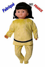 Ensemble pyjama NEUF pour Miss Corolle 36 cms Ref.jaune