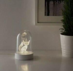 IKEA STRALA LED Fuchs Tischdekoration Tisch Lampe Leuchte Fox Dekorativ