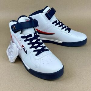 Fila Mens Vulc 13 Athletic Shoes White 1CM00347-125 Lace Up Mid Top 10.5 M New