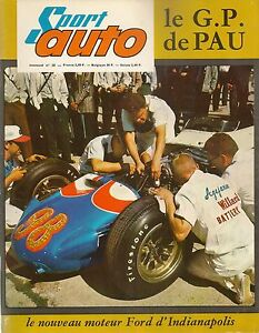 SPORT AUTO 28 1964 GP PAU LYON CHARBONNIERES 12H SEBRING ALFA ROMEO GIULIA TI SU