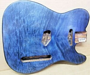 Spalted Flame Figured Maple Telecaster Style Body Blank 12313 / unfinished