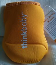 Think Baby Bottle/Sippy sleeve/Coozie Orange Keep It Cold/Hot