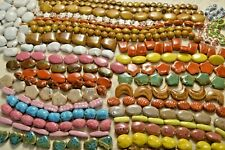 Large Lot 40 strands of Porcelain & Ceramic Beads - Liquidation - A448a+