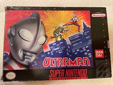 UltraMan Complete SNES Super Nintendo Game Original CIB Ultra Man