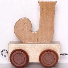 Zuganhänger Buchstabe J Eisenbahn Lok Holzbuchstabe Kindernamen Deko
