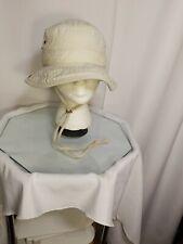 Dorfman Pacific Kindercaps Bucket Hat/Cap 2-6X Beige/Olive Green w/Snap Sides