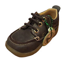 Naturino Boys Loafers Leather Learning to Walk Shoes Brown [ sz. 20] NEW