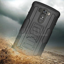 Hybrid Armor Impact Case Kickstand Cover Protector Belt Clip Holster For LG G3
