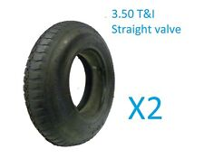 2 Wheelbarrow Wheel Inner Tube and Barrow Tyre 3.50 / 4.0 - 8 + Innertube