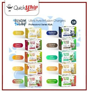 100 Cream Blbs Mixed Flavours- FreshWhip- InfusionWhip - Variety Pk 10 Flavours