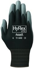 3 Pair Ansell HyFlex Lite Gloves Black/Gray Size 9 11-600-9