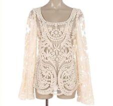 Maglie e camicie da donna camicetta beige floreale