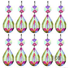10 pcs Crystal Prisms Chandelier Lighting Part Hanging Lamp Pendant Suncatcher