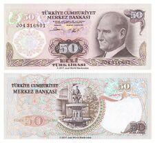 Turkey 50 Lira 1970 (1976) P-188 Banknotes UNC