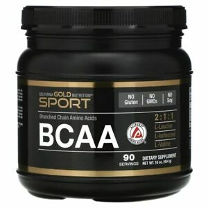 California Gold Nutrition, BCAA Powder, AjiPure®, Branched Chain Amino Acids, 16