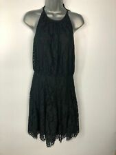 WOMENS JUICY COUTURE BLACK SLEEVELESS HALTERNECK DRESS SIZE UK 6