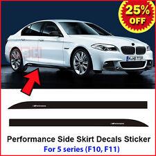 2pcs M Performance Side Skirt Sill Stripe Decal Sticker for BMW 5 Series F10 F11