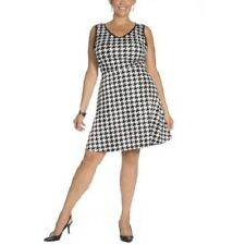 Plus Moda stretchy houndstooth dress with side pockets, Plus size 3X