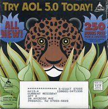 RARE VINTAGE AOL AMERICA ONLINE CD, VERSION 5.0 LEOPARD DISK PROMO c1999