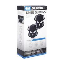Oxford Skull Motorcycle Motorbike Track Day Road Race Knee Sliders Black