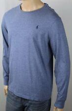Polo Ralph Lauren Blue Long Sleeve Custom Crewneck Tee T-Shirt Navy Pony NWT