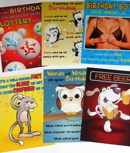 just 29p! 36 VERY FUNNY CARDS, HIGHEST QUALITY, 6 DESIGNS X 6. 29p!