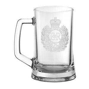 Royal Engineers Heeled Glass Tankard