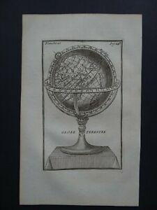 1751 Nicolas BION Atlas  WORLD map - Globe Terrestre