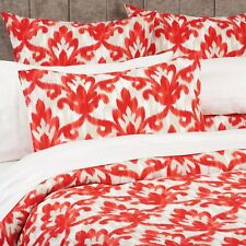 LAURA ASHLEY Ikat red  SINGLE BED QUILT/DOONA COVER SET BNIP cranberry beige